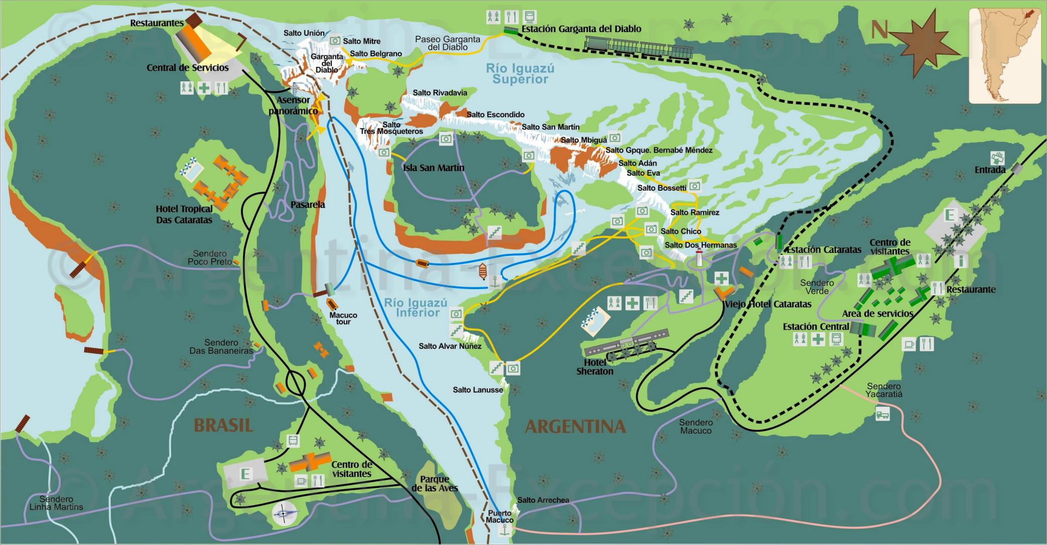 Mapa Parque Iguazu